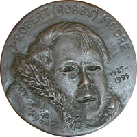 Image of J. Robert Moore on the IMMS's Moore Medal.